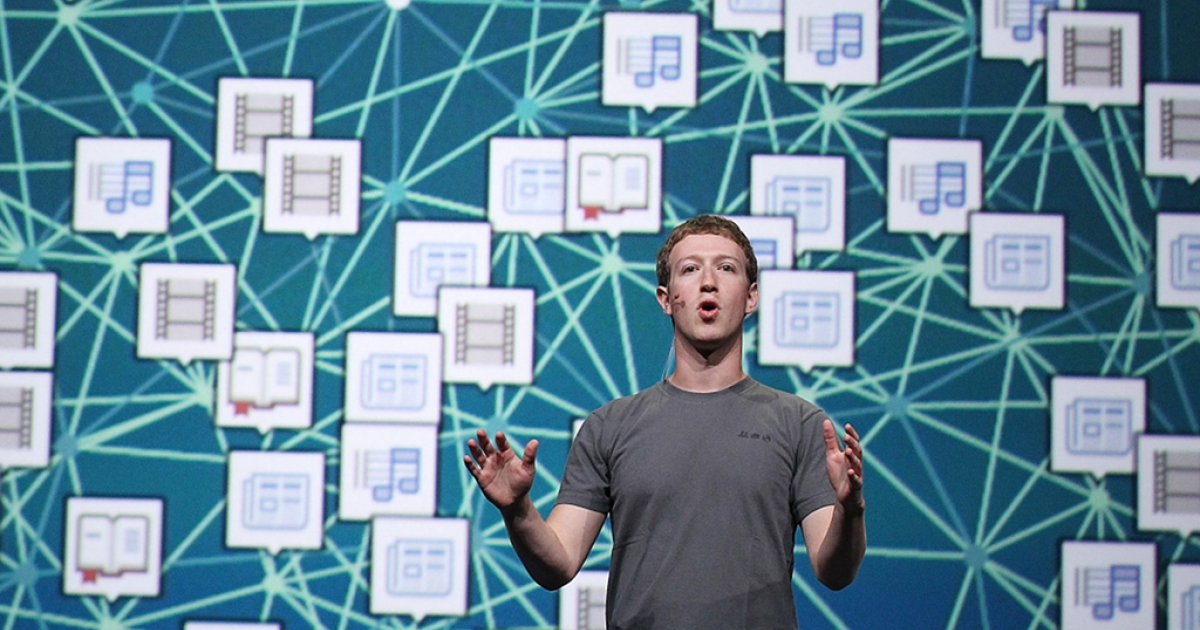 Facebook CEO Mark Zuckerberg delivers a keynote address during the Facebook f8 conference on September 22, 2011 in San Francisco, California. With Facebook Exchange, Zuckerberg plans to revamp the social network's approach to advertising.</p>