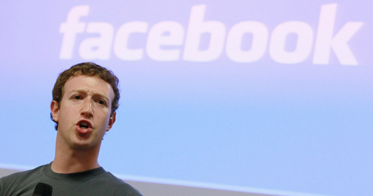 Facebook founder and CEO Mark Zuckerberg at a News conference in October 2010.</p>