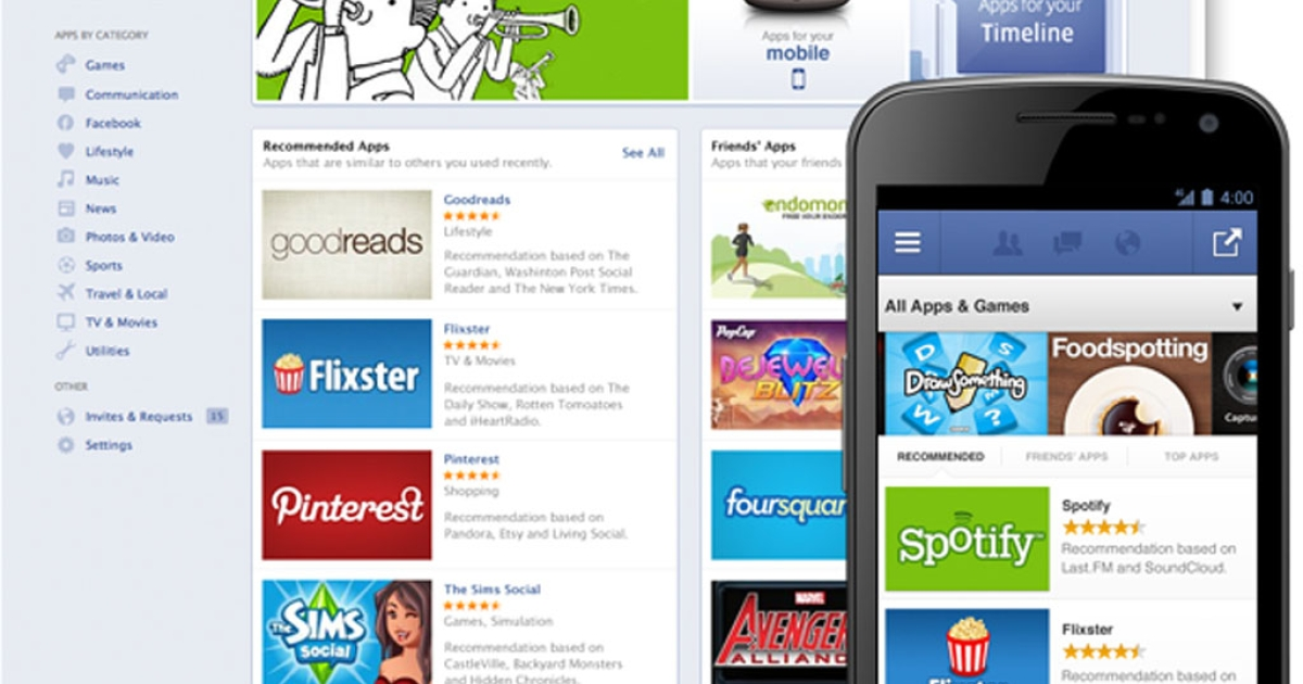 Facebook unveiled plans on May 10, 2012, for an online App Center, much like Apple and Google, that will give consumers a hub for finding games and other apps on the social network.</p>