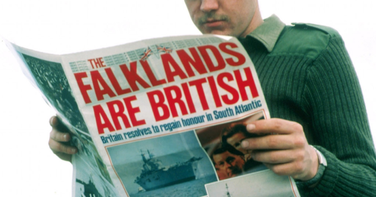 The Falklands conflict must have seem like ancient history to this young British soldier in 2000.  But it is still a source of tension between Britain and Argentina.</p>