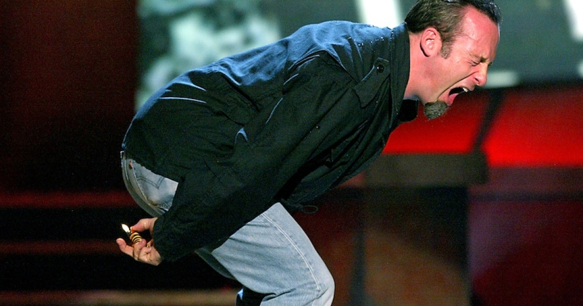 LOS ANGELES - NOVEMBER 22 2003: Actor Bob Odenkirk farts during Comedy Central's First Ever Awards Show 'The Commies' at Sony Pictures Studios in Culver City, California.</p>