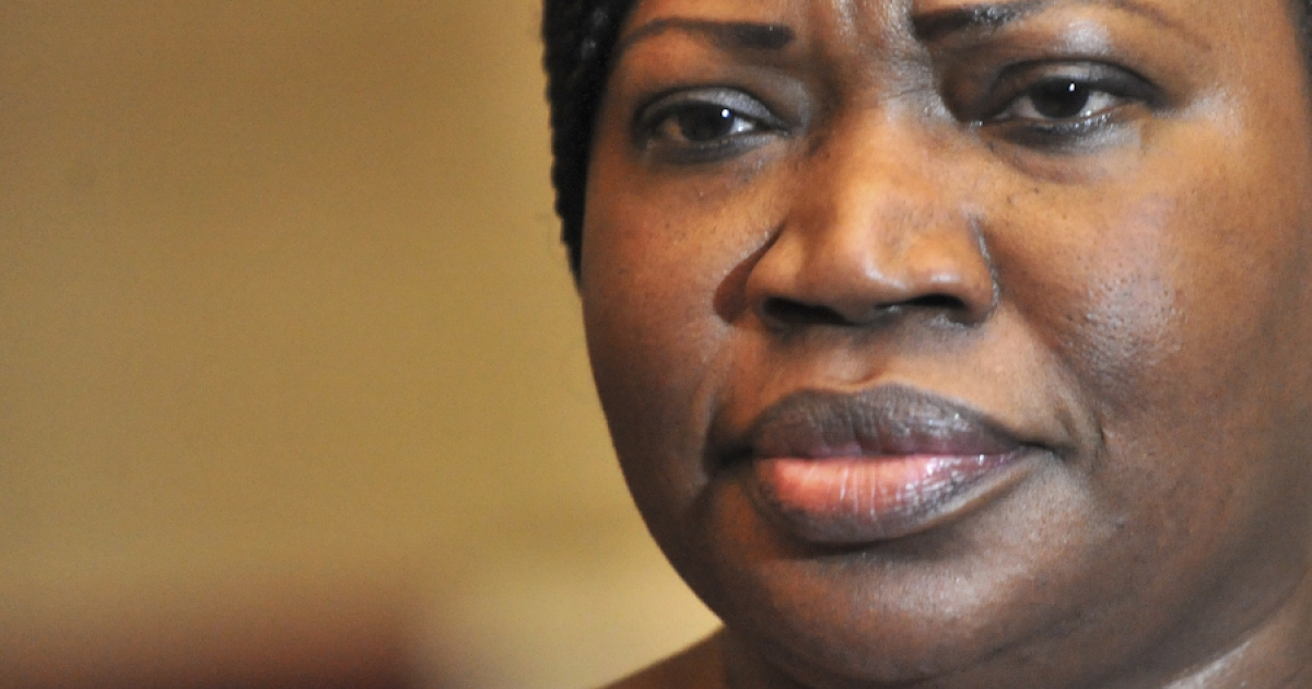 Gambian-born Fatou Bensouda, the new chief prosecutor of the International Criminal Court (ICC), speaks to the press on April 3, 2012 at the presidential palace in Abidjan after a meeting with Ivory Coast's president.</p>