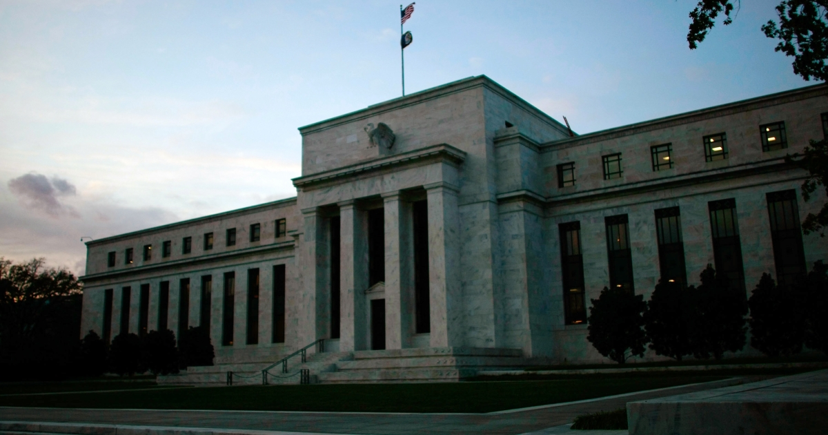 The US Federal Reserve Building in Washington, DC, on Oct. 28, 2008.</p>