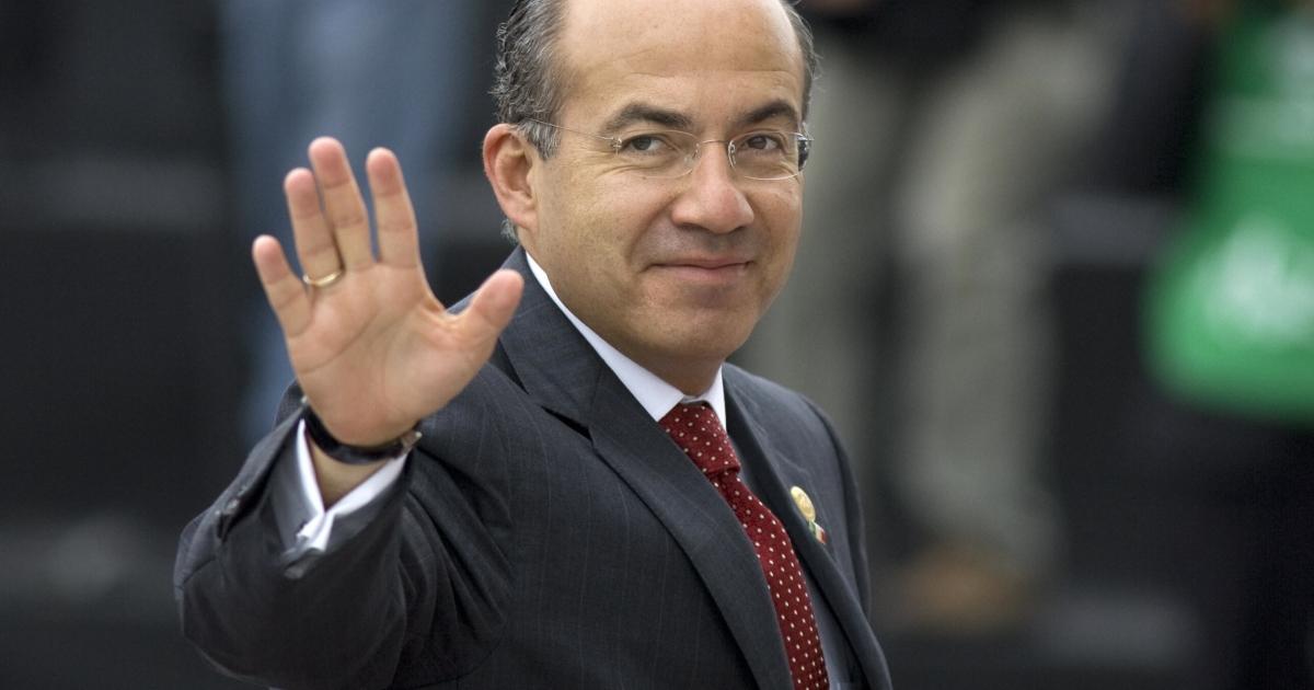 Former Mexican President Felipe Calderon.</p>