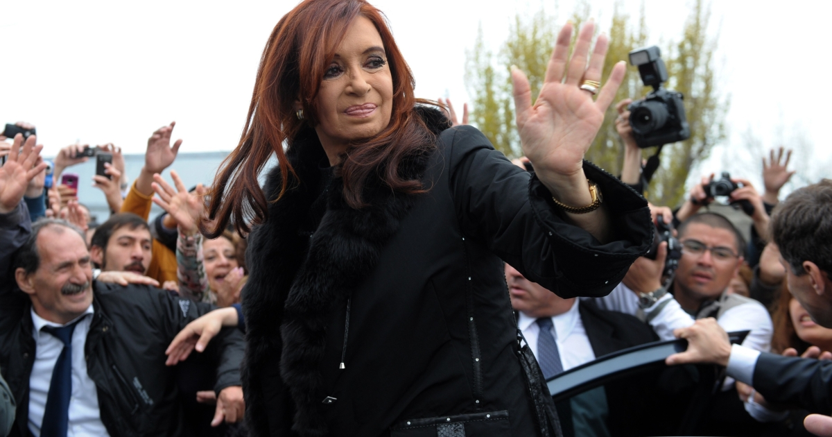 President Cristina Fernandez was re-elected Sunday.</p>