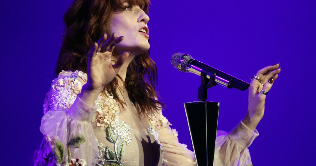 Florence Welch of Florence + The Machine lost her voice, forcing the British band to cancel two European performances.</p>