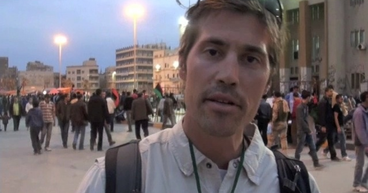 Journalist James Foley reporting for GlobalPost from Benghazi, Libya in mid-March. Foley, along with three other foreign journalists, was detained by forces loyal to Libyan leader Muammar Gaddafi on April 5.</p>