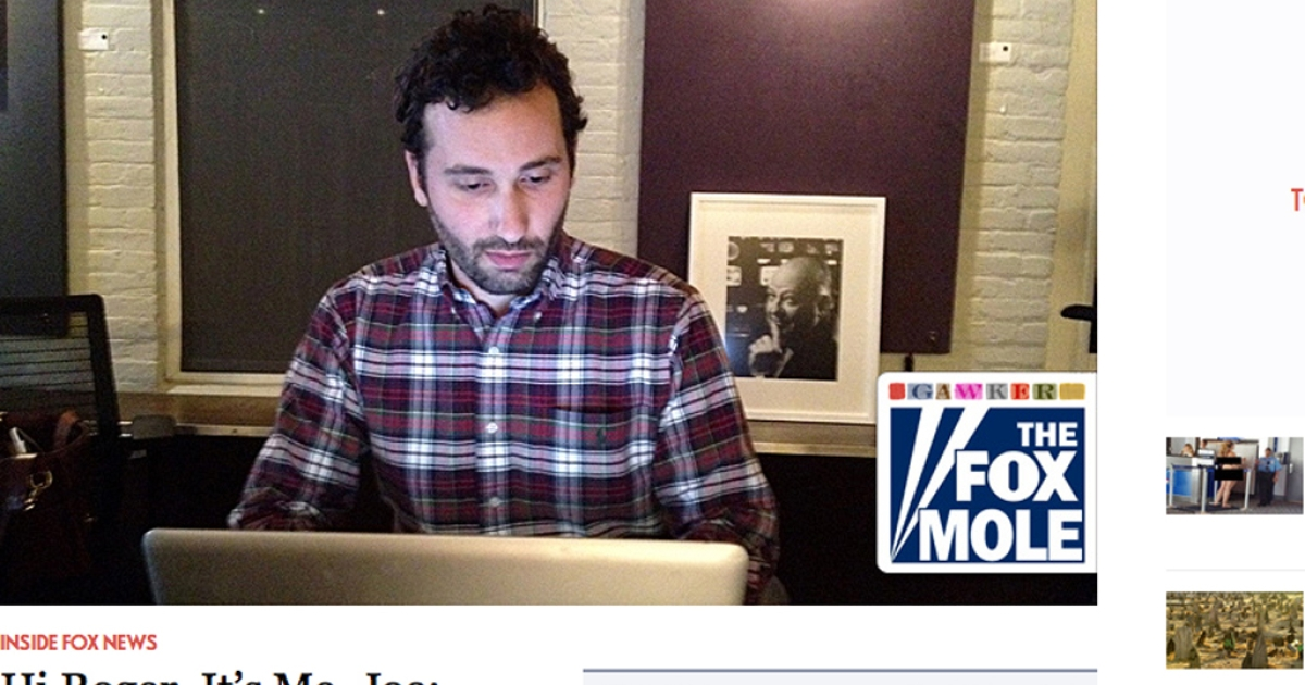 The media website Gawker published this image of O'Reilly Factor Associate Producer Joe Muto, who has been fired after being exposed as the so-called Fox Mole.</p>