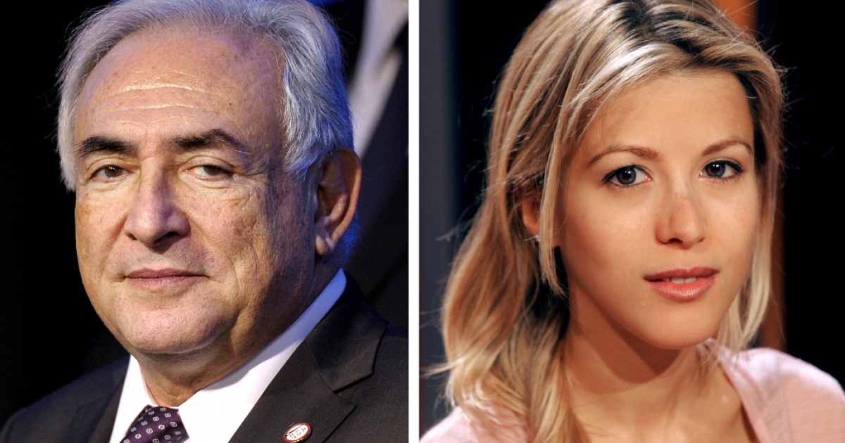 Former International Monetary Fund Managing Director Dominique Strauss-Kahn (left) and French journalist and writer Tristane Banon (R), who will bring legal action this week for attempted rape against Strauss-Kahn.</p>