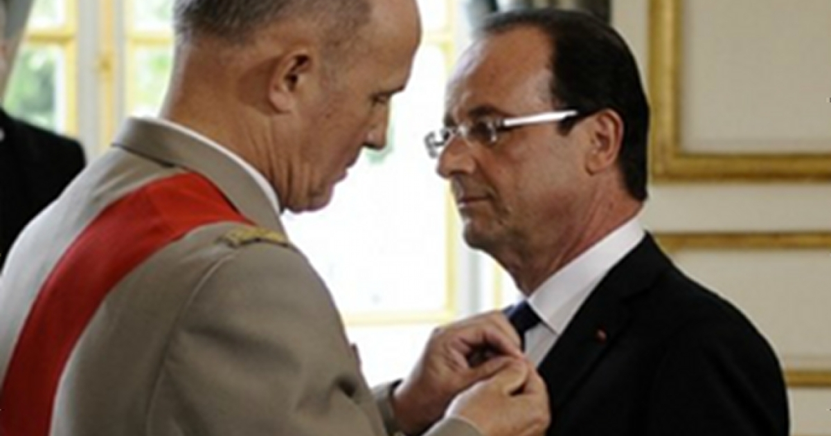 Socialist candidate Francois Hollande is sworn in as the seventh president of the fifth French republic.</p>