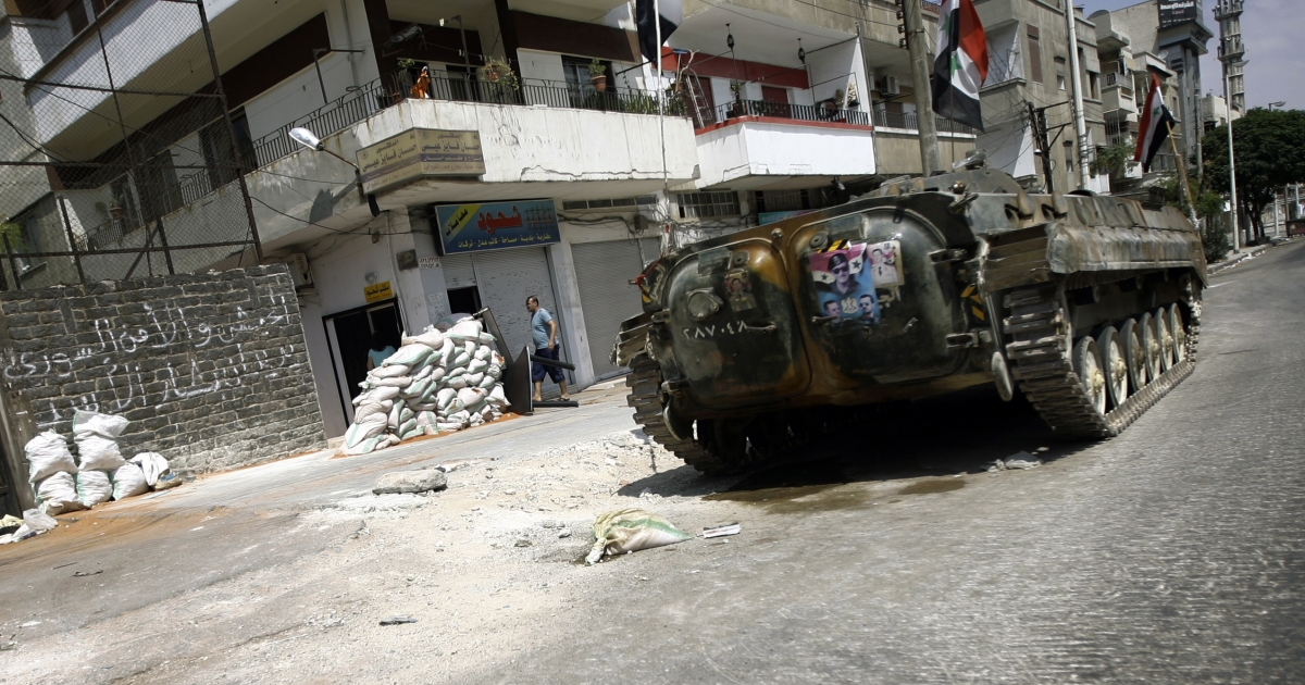 Violence continues in Homs, as 13 civilians were killed Saturday from tank fire.</p>
