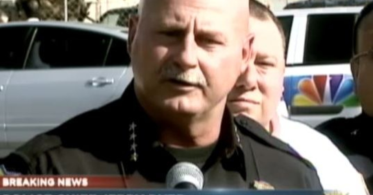 Fresno Police Chief Jerry Dyer speaks to the media about a shooting at a local chicken plant Nov. 6, 2012, that left 3 people dead, including the gunman.</p>