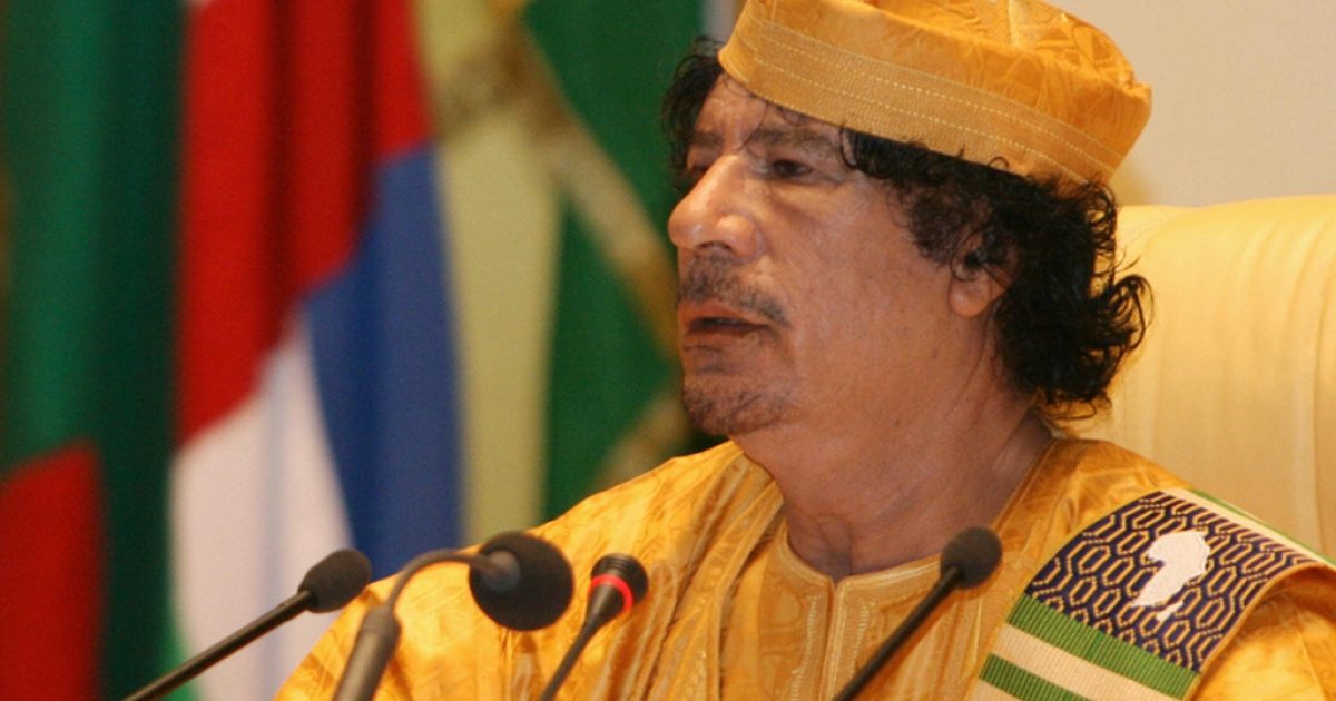 Libyan leader Muammar Ghadaffi speaks during the 13th African Union summit of heads of state and government in Sirte in 2009. Had the US followed the guidelines of the organization in its dealings with Ghadaffi, Libya may have been a far more peaceful place than it is today.</p>
