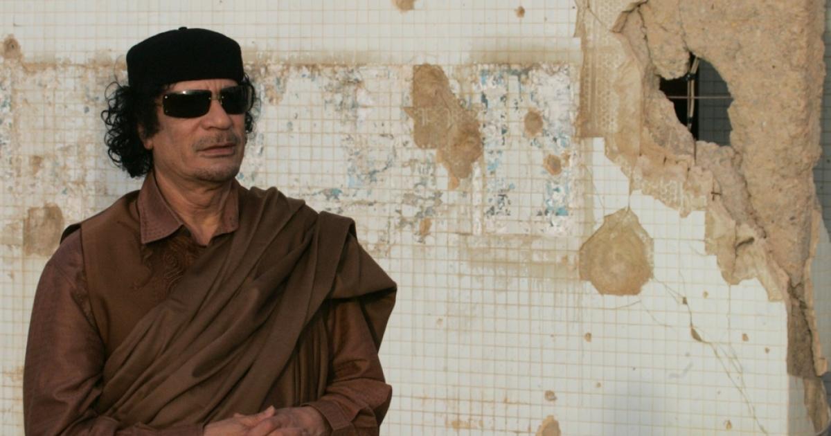 Muammar al-Gaddafi, before the revolution.</p>