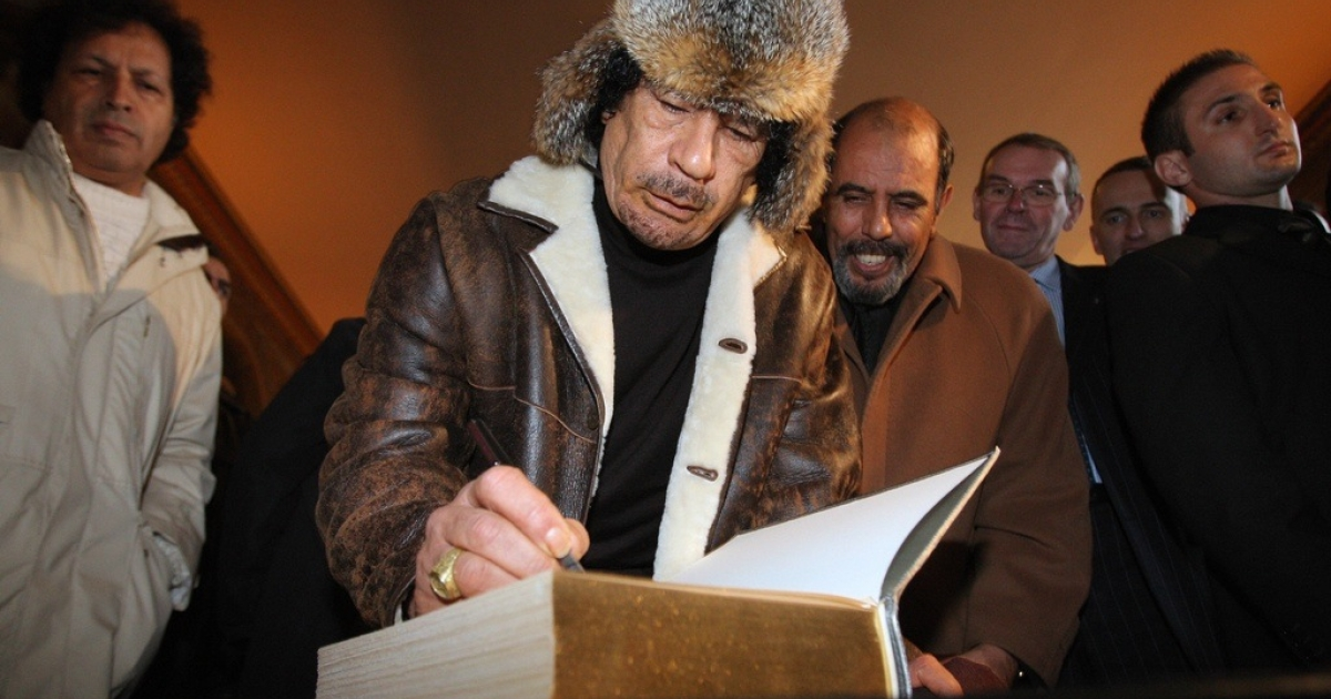 Who else does Gaddafi write to?</p>