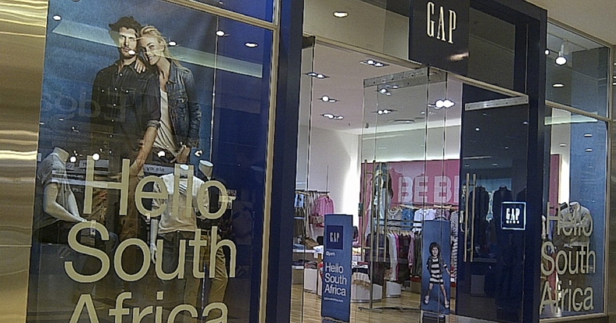 The new Gap store in Johannesburg's Sandton City shopping mall.</p>