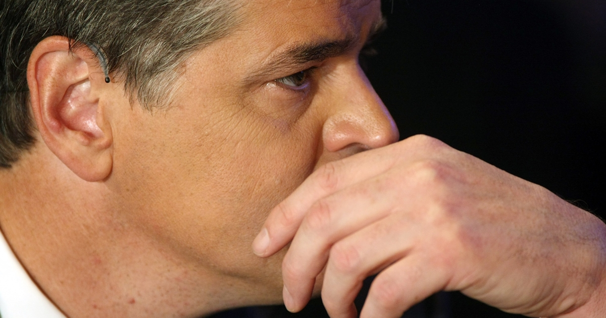 Fox News Channel and radio talk show host Sean Hannity listens to a speaker in September, 2008 during the Republican National Convention in St. Paul, Minnesota.</p>