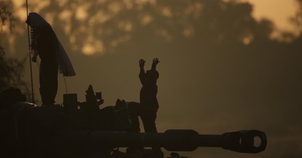 Israeli soldiers on Nov. 20 on the Gaza border.</p>