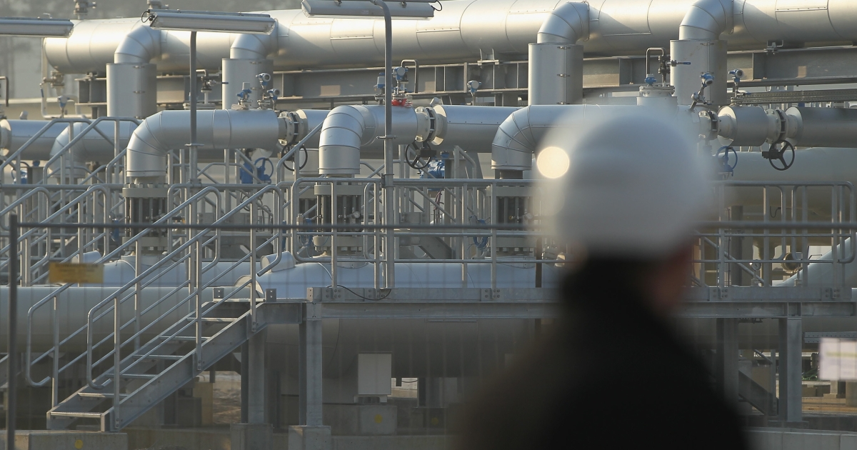 A gas facility in Germany for a pipeline connecting the country to Russia, which provides a third of German supplies. Gazprom has split EU unity toward Moscow by striking lucrative deals with individual countries.</p>