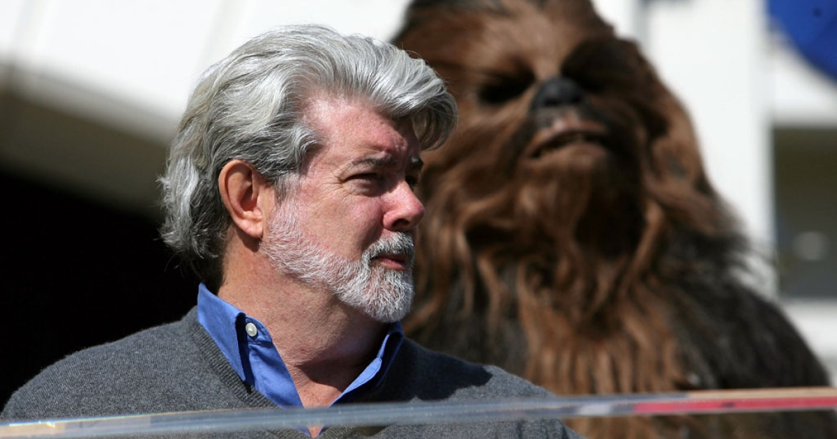 George Lucas (left) and his