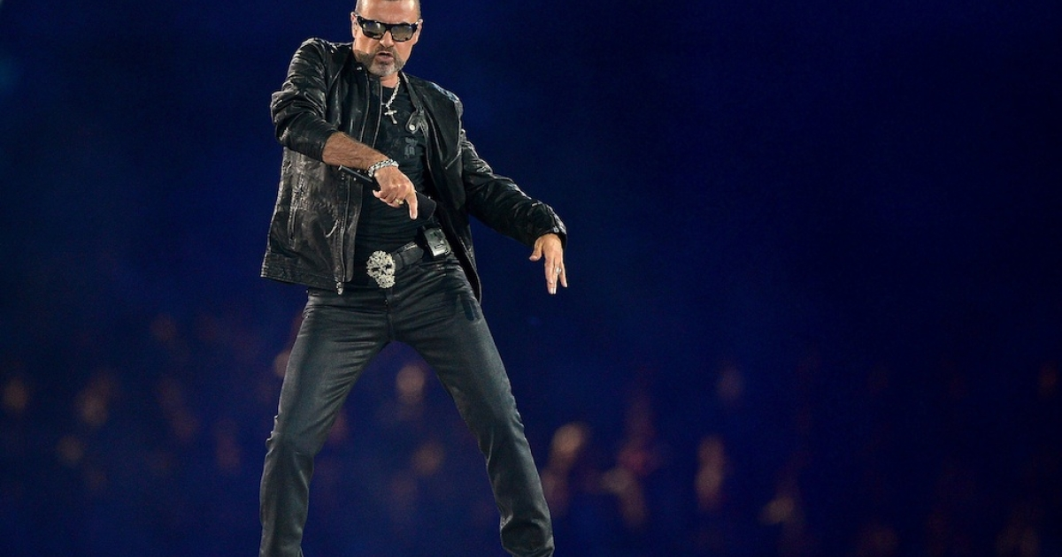 George Michael performs during the Closing Ceremony on Day 16 of the London 2012 Olympic Games at Olympic Stadium on August 12, 2012 in London, England.</p>