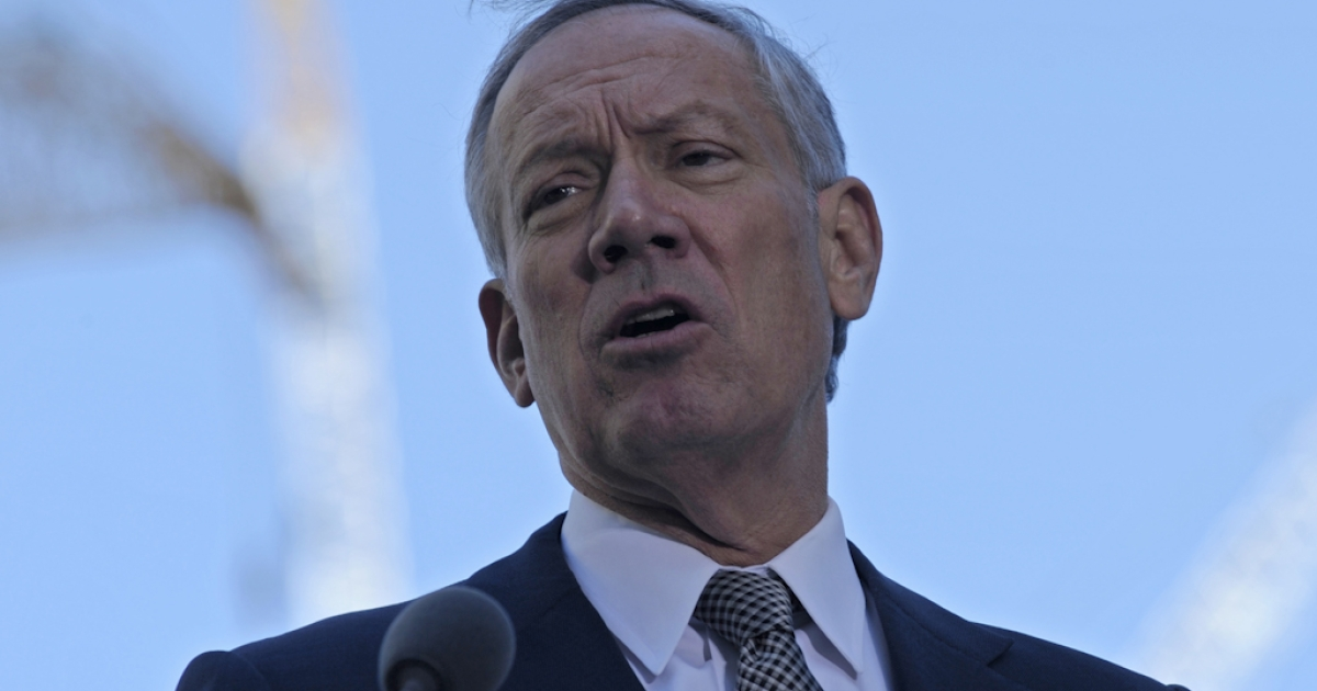 Former New York State Governor George Pataki during the annual 9/11 memorial service at Ground Zero on September 11, 2010 in New York City. Pataki is considering running for president for 2012.</p>