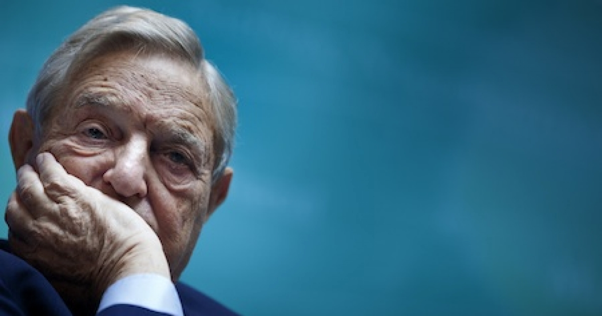 Billionaire hedge fund manager and philanthropist George Soros, chairman of Soros Fund Management</p>