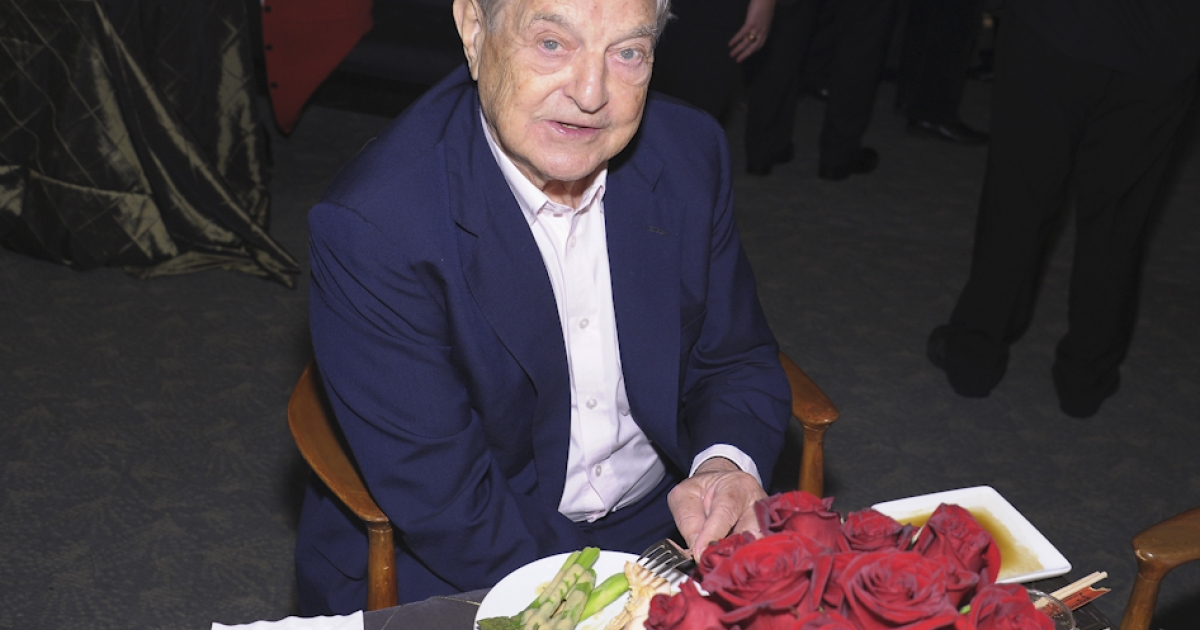 Billionaire financier George Soros married for a third time on Saturday, tying the knot with education consultant Tamiko Bolton.</p>