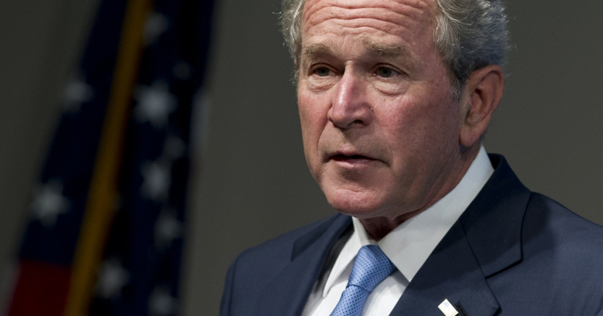Former US President George W. Bush speaks during an event celebrating the successes of dissidents and activists from around the world, hosted by the George W. Bush Presidential Center in Washington, DC, May 15, 2012.</p>