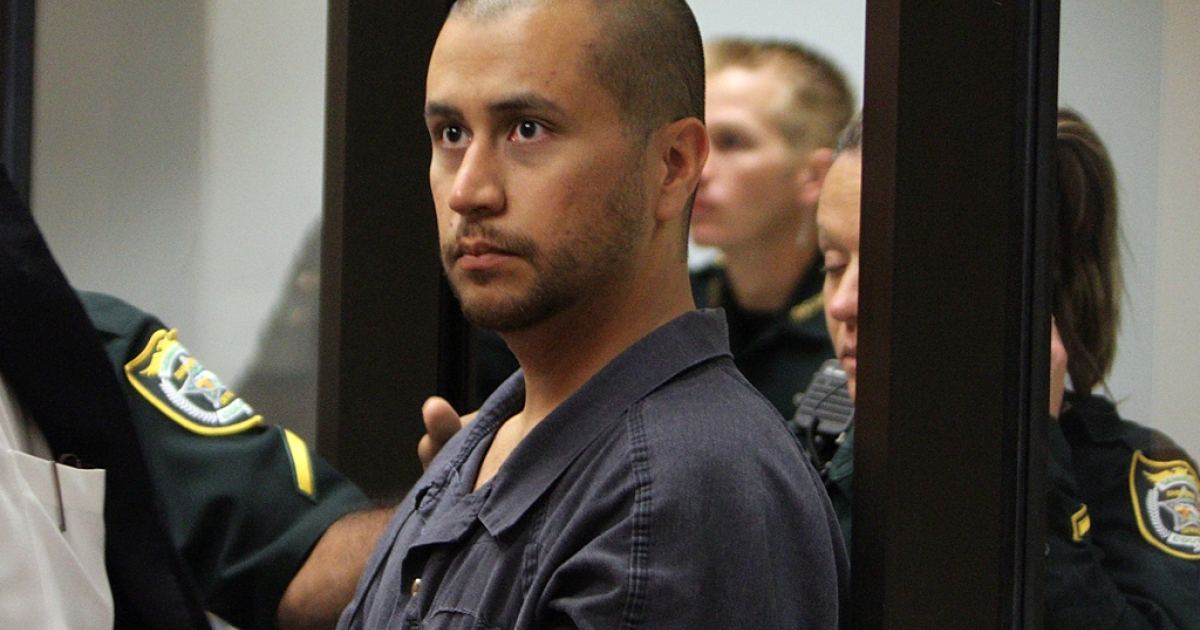 George Zimmerman appears for a bond hearing at the John E. Polk Correctional Facility April 12, 2012 in Sanford, Florida. Zimmerman was charged with second degree murder in the fatal shooting of 17-year-old Trayvon Martin who died February 26, 2012.</p>