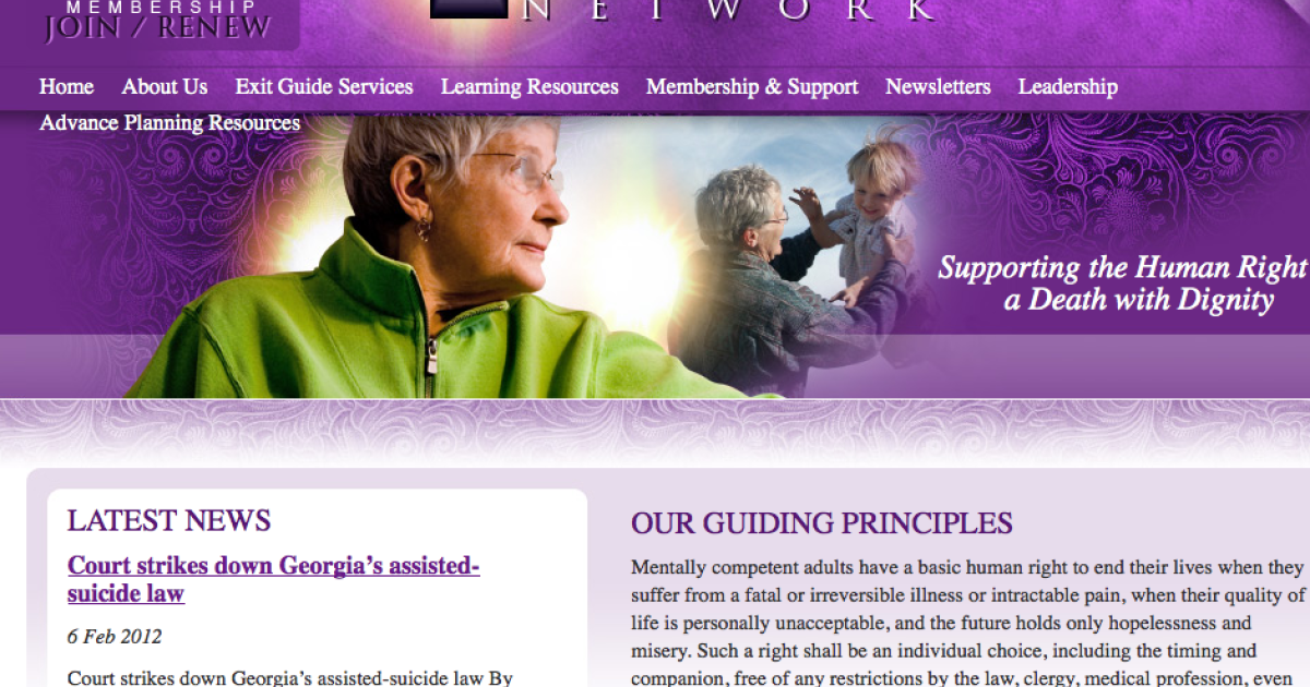 Georgia's Supreme Court struck down a law on assisted suicide, siding with the Final Exit Network group.</p>