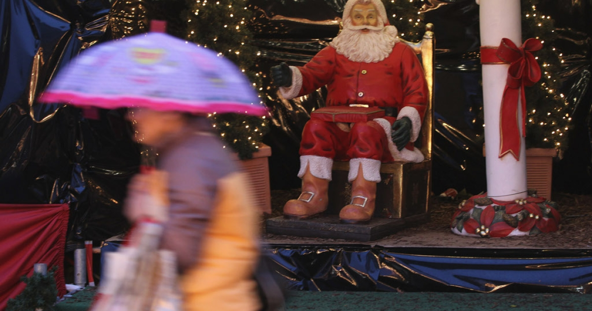 Santa is smiling in Germany. A respected study of business leaders published today shows optimism for the economy in 2012 despite the euro zone's woes.</p>