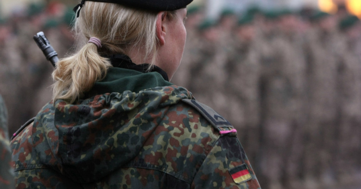 German's Bundeswehr is trying to attract more female soldiers.</p>