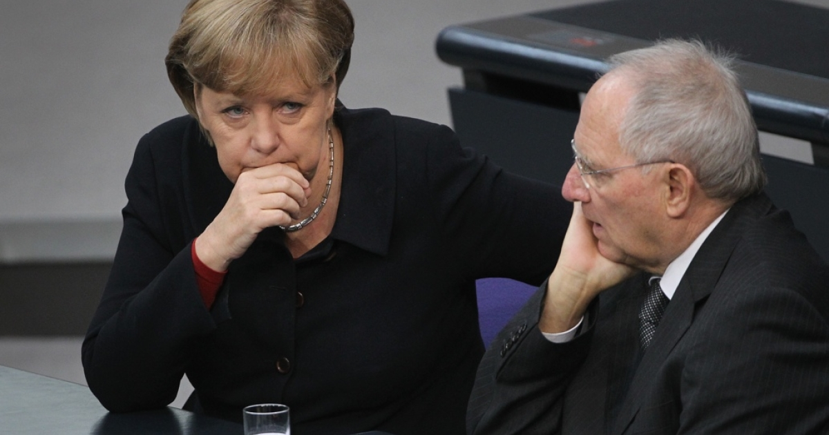 German Chancellor Angela Merkel and Finance Minister Wolfgang Schaeuble are playing hardball.</p>