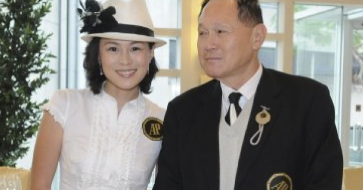 Gigi Chao with father Cecil Chao, a Hong Kong tycoon and property developer. Cecil Chao has reportedly offered a HK$1 billion (about $100 million)