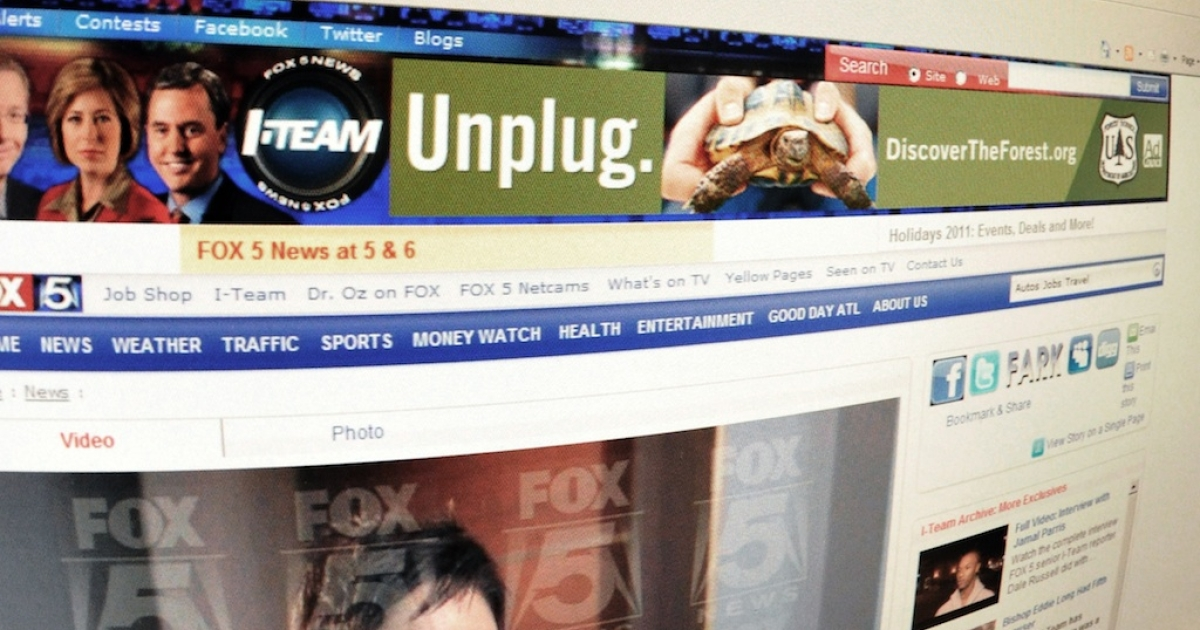 A screen shot shows a photograph of Ginger White on the Fox 5 homepage.</p>