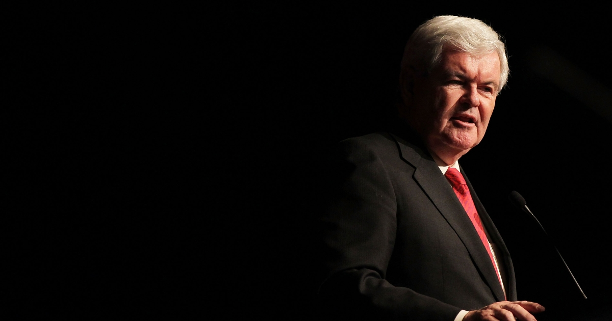 Gingrich speaks at the 2012 New York Republican State Dinner yesterday in New York.</p>
