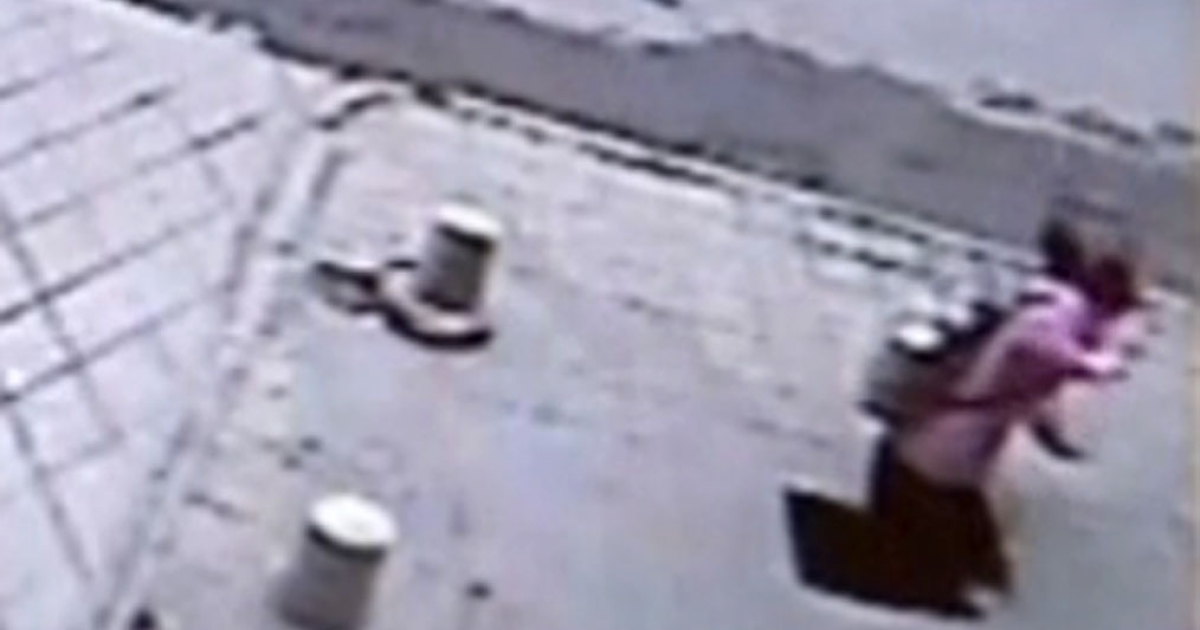 A still image taken from video published by The Daily Telegraph shows the accident as it happened.</p>
