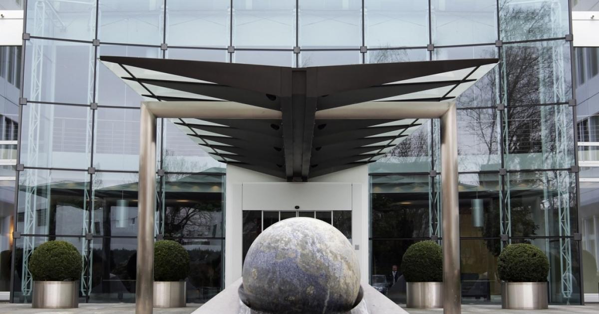 The headquarters of commodities giant Glencore in Baar, Switzerland.</p>