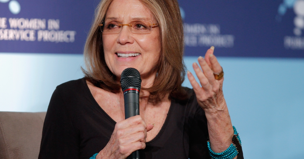 Feminist and journlalist Gloria Steinem spoke on a panel at the Women in the World Summit.</p>