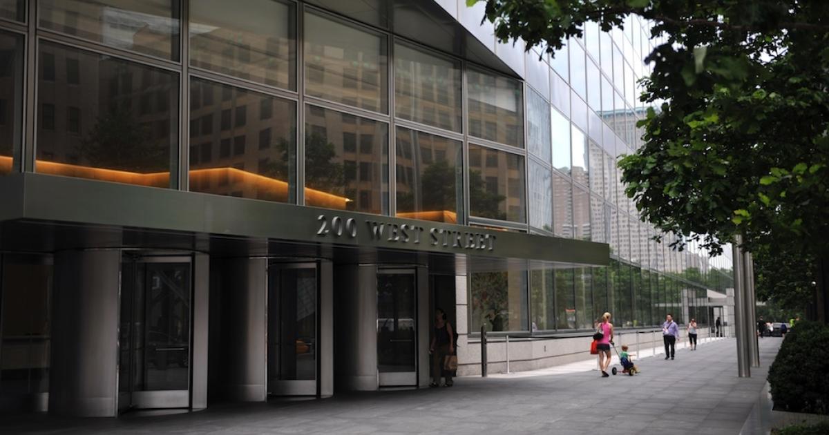 Headquarters of Goldman Sachs in lower Manhattan June 22, 2012 in New York.</p>
