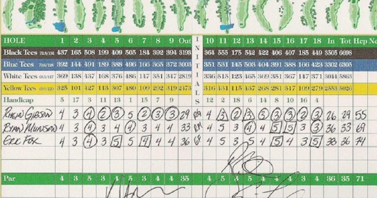 Rhein Gibson's round of 55 could be the lowest ever recorded in golf history.</p>
