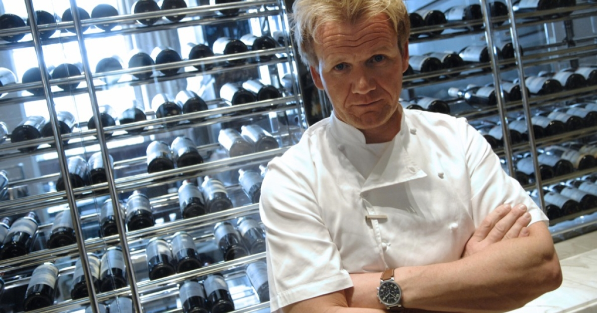 A picture taken on March 20, 2008 shows British TV chef Gordon Ramsay, chef at