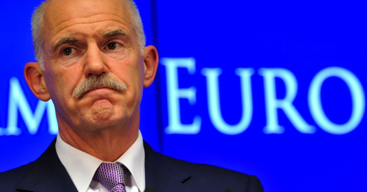 Should the Greek Prime Minister George Papandreou resign and the government be dissolved?</p>
