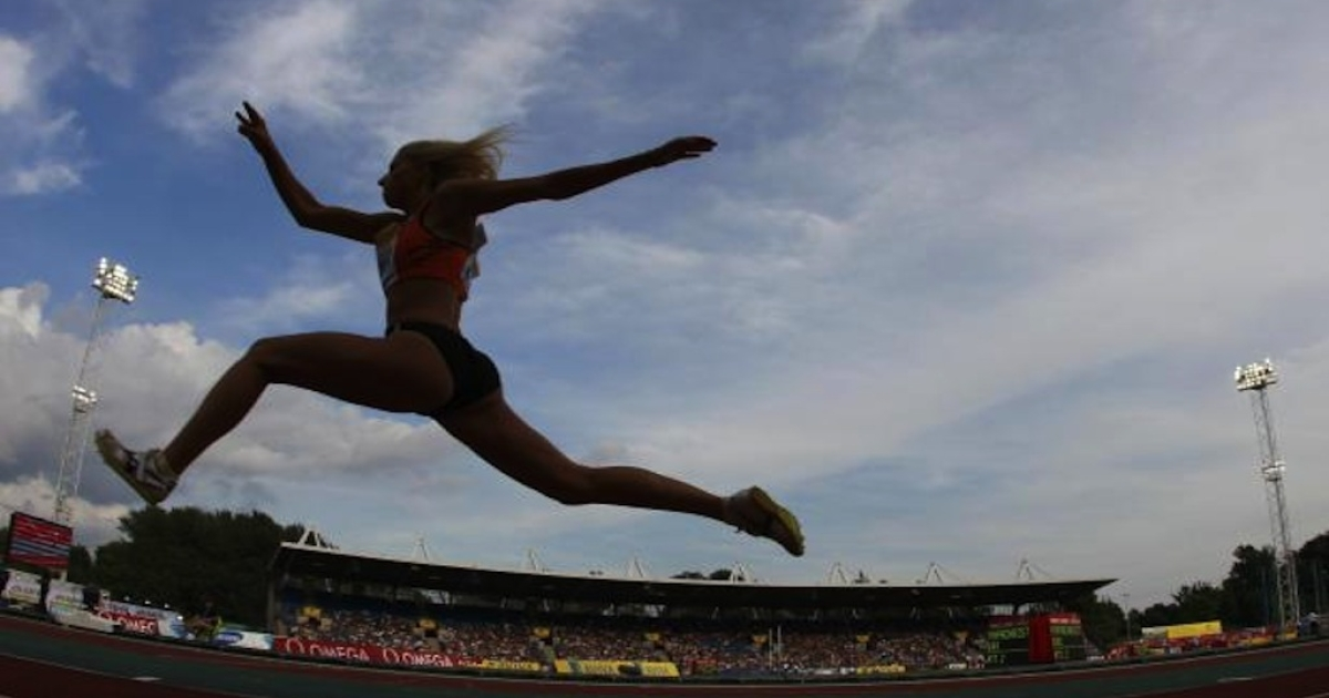 Paraskevi Papachristou of Greece competes in the women's triple jump during the London Grand Prix, Diamond League, athletics meeting at Crystal Palace in London August 5, 2011.</p>