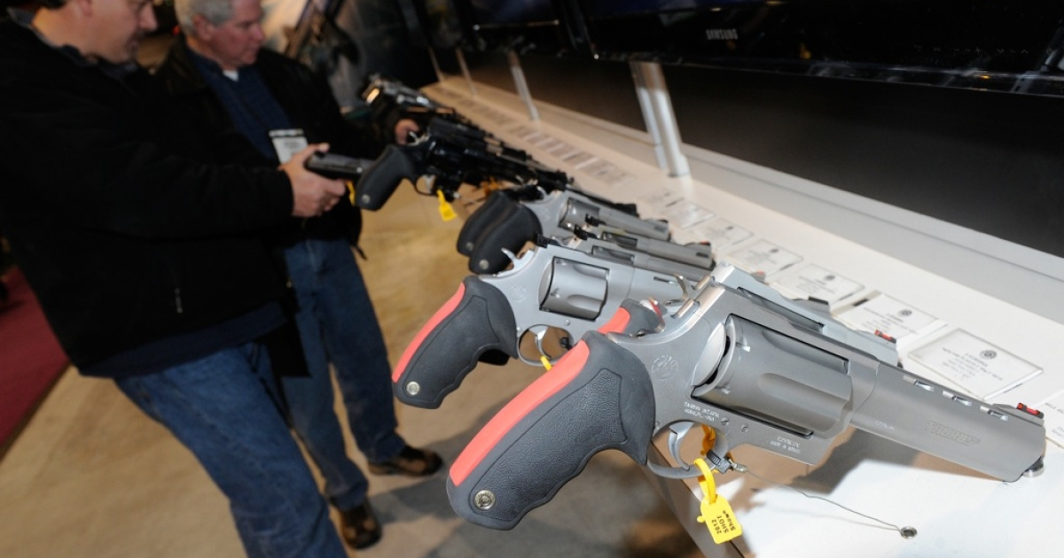 Gun mad: a National Shooting Sports Foundation trade show in Las Vegas.</p>