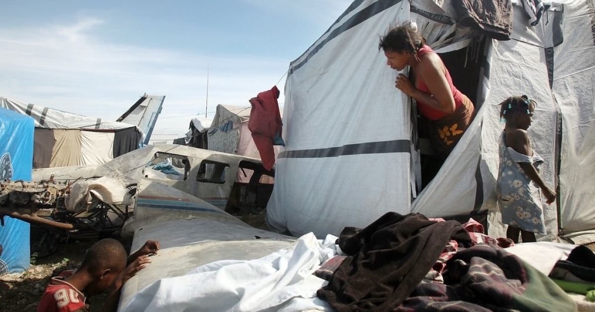 Many Haitians who were displaced by the earthquake have been protesting efforts to remove them from camps where a lot where they have been living since January 2010.</p>