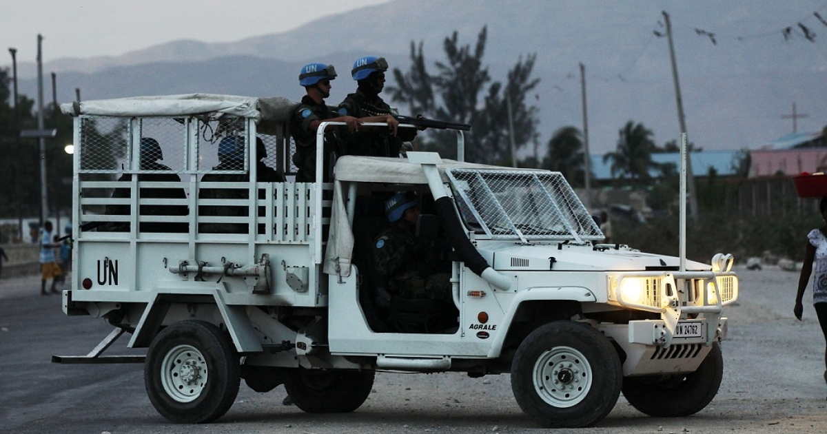 Soldiers tied to the United Nations Stabilization Mission in Haiti (MINUSTAH) on patrol.  Pakistan has sent home its 150 soldiers tied to the mission after three were found guilty of sexually abusing a 14-year-old Haitian boy.</p>