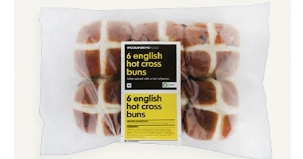 Hot cross buns from Woolworths in South Africa, at the center of