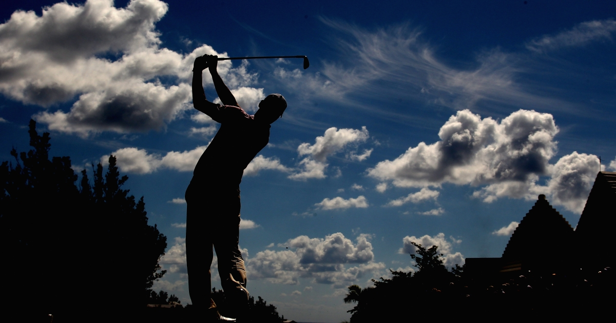 An idyllic setting: Martin Kaymer of Germany is seen during the first round of the 2010 PGA Grand Slam at The Port Royal Golf Course in October, 2010 in Southampton, Bermuda.</p>